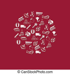 cirkel, speelgoed, pictogram