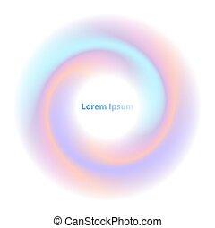cirkel, swirl, abstrakt