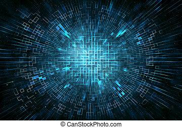 cirkel, techno, abstract, achtergrond