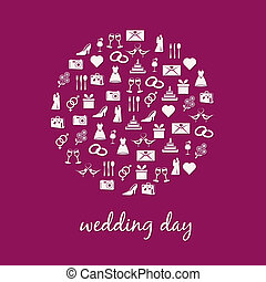 cirkel, trouwfeest, pictogram