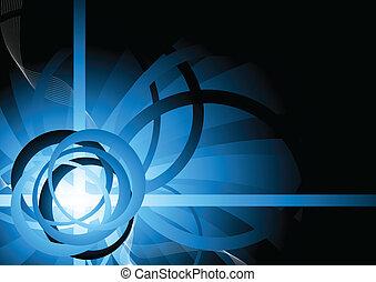 cirkel, vector, achtergrond