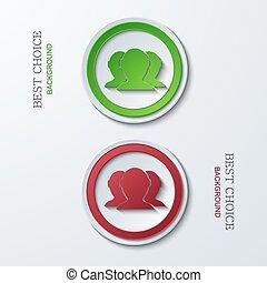 cirkel, vector, moderne, iconen