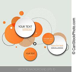 cirkel, vector, ontwerp, moderne, mal