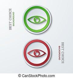 cirkel, vektor, nymodig, ikonen