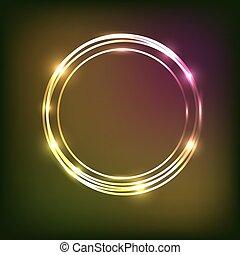 cirkels, abstract, neon, achtergrond, kleurrijke