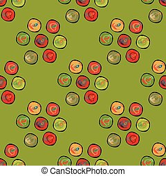 cirkels, abstract, pattern., seamless, vector, achtergrond