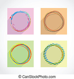 cirkels, abstract, set, vector, achtergrond.