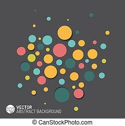 cirkels, abstract, vector, achtergrond, kleurrijke