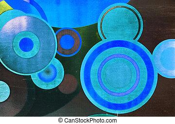 cirkels, achtergrond, abstract