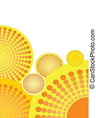 cirkels, achtergrond, creatief