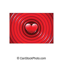 cirkels, concentrisch, valentines dag, kaart