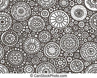 cirkels, doodle, seamless