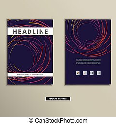 cirkels, gekleurde, dekking, abstract, lijnen, boek