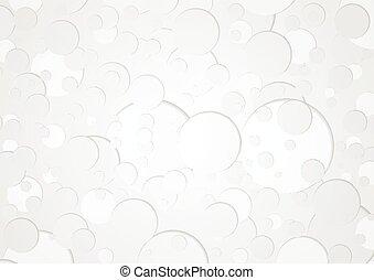 cirkels, geometrisch, technologie, grijze , achtergrond