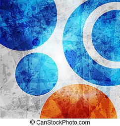cirkels, grafisch, model, abstract ontwerp, achtergrond, ...