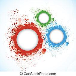 cirkels, grunge, achtergrond