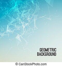 cirkels, illustration., abstract, lines., vector, achtergrond, geometrisch, maas
