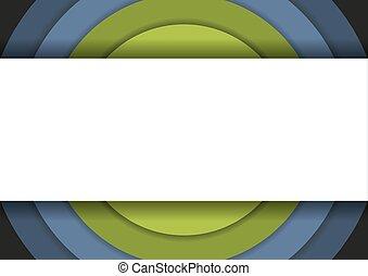 cirkels, kleuren, koude, concentrisch, 6