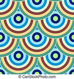 cirkels, kleurrijke, meetkunde, abstract, moderne, seamless, model, kleur, vector, geometr