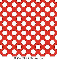 cirkels, model, seamless, achtergrond, wit rood