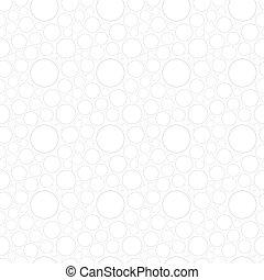 cirkels, model, witte , seamless