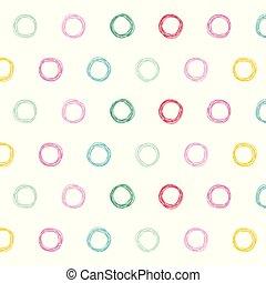 cirkels, modelleer ontwerp, kleurrijke, achtergrond