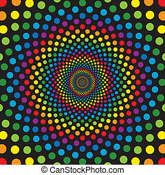 cirkels, regenboog