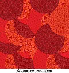 cirkels, rode achtergrond