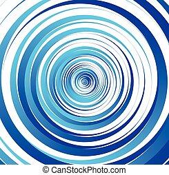 cirkels, slagen, spiraal, borstel, concentrisch, element