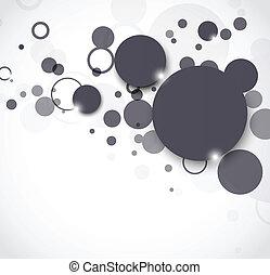cirklarna, abstrakt, bakgrund