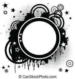 cirklarna, abstrakt, stinkande, bakgrund