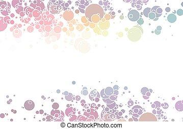 cirklarna, färgrik, abstrakt