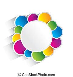 cirklarna, färgrik, skapande