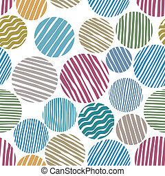 cirklarna, fodra, pattern., seamless