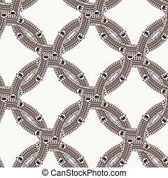 cirklarna, interlocking, mönster, seamless, vektor, utsirad