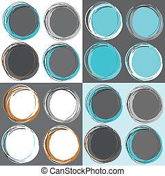 cirklarna, mönster, seamless, retro