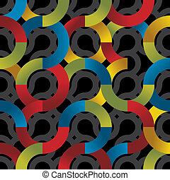 cirklarna, pattern., seamless, färgrik