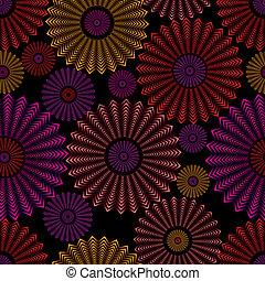 cirklarna, pattern., seamless, utsirad