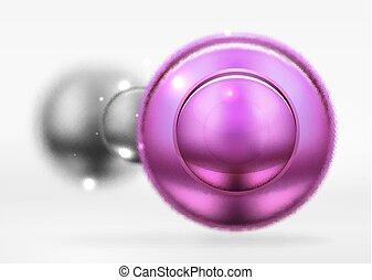 cirklarna, yta, suddiga spheres, tech, glatt, metallisk, runda