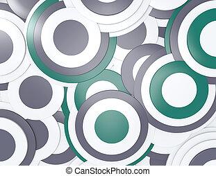 cirkler, abstrakt, baggrund