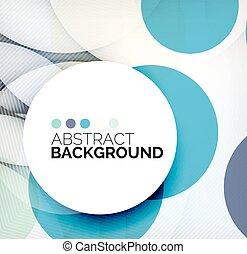 cirkler, abstrakt, moderne, komposition, farverig