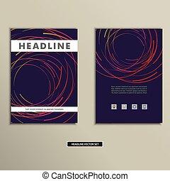 cirkler, farvet, afdækket, abstrakt, linjer, bog
