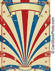 cirkus, årgång, affisch