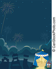 cirkus, fireworks