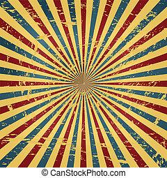 cirkus, grunge, färgrik, bakgrund