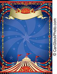 cirkus, natt, affisch