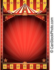 cirkus, ram, affisch