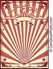 cirkus, retro, affisch