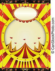 cirkus, underhållning, affisch