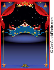 cirkusz, varázslatos, éjszaka